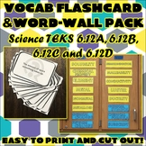 Vocab Flashcard & Word Wall Pack for Sixth Grade Science TEKS Unit 9