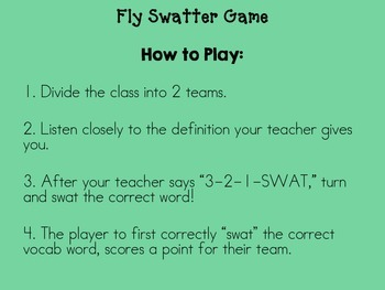 3rd Grade Reading Street Fly Swatter Game Unit 2