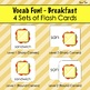 Vocab Fun! - Breakfast: Flash Cards, Vocabulary List + Test, Games and MORE!