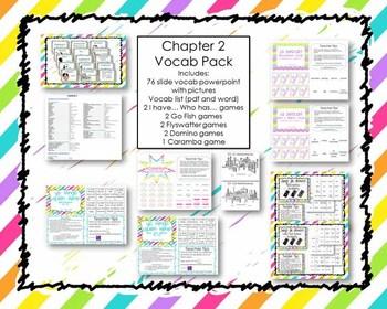 Vocab Game Bundle for Exprésate level 1 Chapter 2