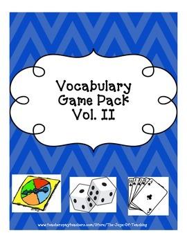 Vocab Game Pack Vol. II