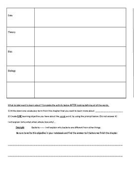 Vocab Handout Template
