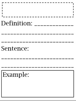 Vocab Journals for Each Subject Area