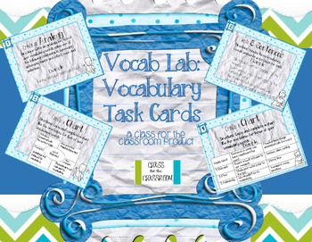 Vocab Lab: Vocabulary Task Cards