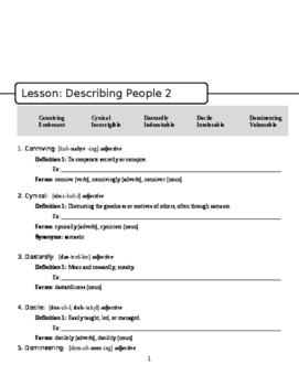 Vocab Lesson: Adjectives That Describe People #2
