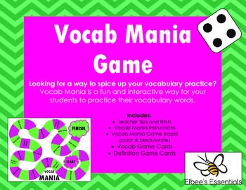 Vocab Mania Game