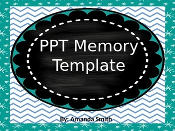 Vocab Memory PPT template