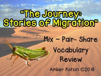 Vocab Mix-Pair-Share Game: The Journey Stories of Migration Journeys 3rd Grade