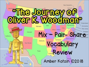 Vocab Mix-Pair-Share Game: The Journey of Oliver K Woodman Journeys 3rd Grade