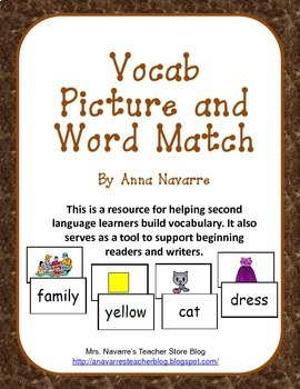 Vocab Picture and Word Match