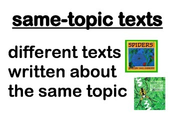 Compare and Contrast Same Topic Texts Essential Questions & How-To Posters