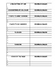 Vocab Review: The Categories Packet