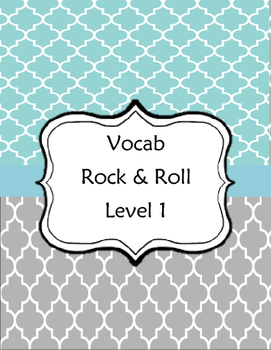 Vocab Rock and Roll Sheet: Level 1