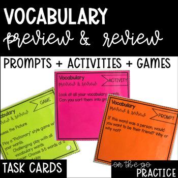 Vocab Task Cards: Higher Order Thinking
