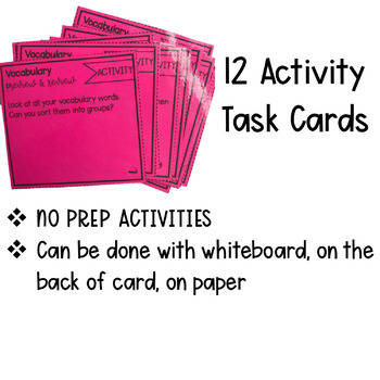 Vocab Task Cards: Preview and Review