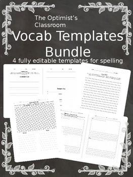 Vocab Template Bundle