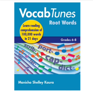 Vocab Tunes English Vocabulary Building & Comprehension Program 6th to 8th Grade