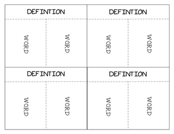 Vocab Venn Diagram Foldable