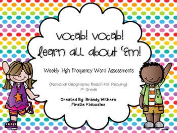 Vocab! Vocab! Learn All About 'Em! for National Geographic Reach for Reading
