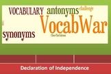 Vocab War: Declaration of Independence
