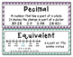 Decimal Vocab / Word Wall Cards