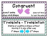 Flip, Slide, Turn, Reflection, Rotation, Translation Vocab