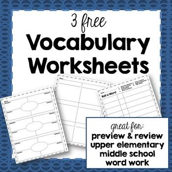 Vocab Worksheet Practice