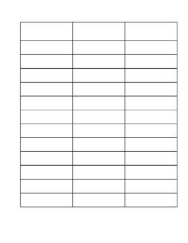 Vocab Worksheet Template