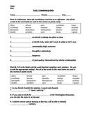 Vocab Workshop Level D - Unit 7 Quiz