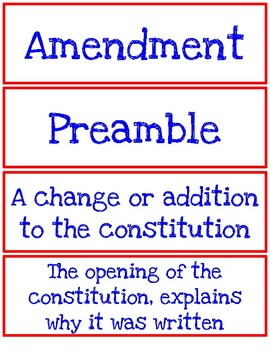 Vocab for Creating a New Government