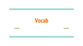Vocab for the Year