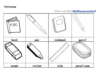 Vocab game_ point and say