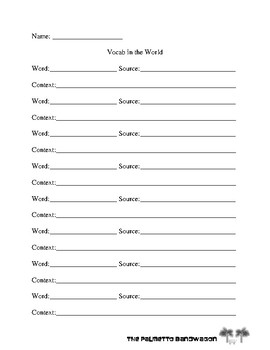Vocab in the World
