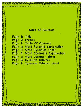 Vocab. is Fab. Enhancing Vocabulary