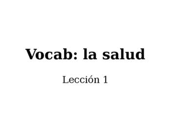Vocab: la salud (L1)