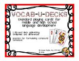 Vocab-u-Decks for Comparing and Contrasting