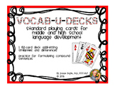 Vocab-u-Decks for Comparing and Contrasting