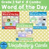 Vocabulary Cards Grade 3 Sets 4 - 6 Bundle