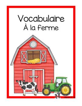 Vocabulaire À la ferme (Down The Farm Vocabulary)