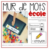 Vocabulaire École {FRENCH School Word Wall}