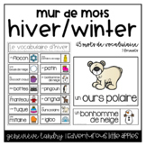 Vocabulaire Hiver {FRENCH Winter Word Wall}