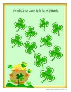 Vocabulaire-Jour de la Saint Patrick