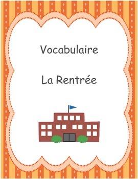 Vocabulaire - La Rentrée