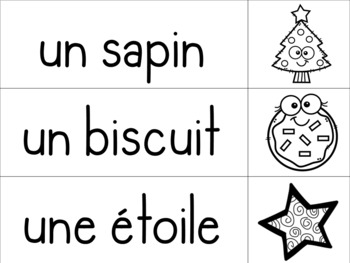 Vocabulaire Noël / / / mur de mots + cahier de l'élève