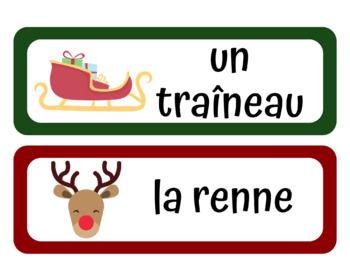 Vocabulaire Pour Le Noël et L'Hiver