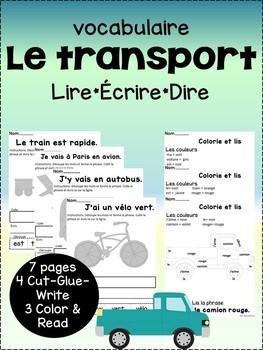 Vocabulaire Transport {French transportation vocab}