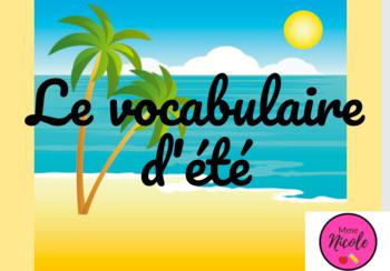 Vocabulaire d'été français jeu en ligne - French Summer Vocabulary Digital Game