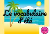 Vocabulaire d'été français jeu en ligne - French Summer Vo
