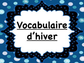 Vocabulaire d'hiver