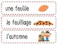 Vocabulaire d'automne + Bingo / Fall vocabulary + Bingo (French)
